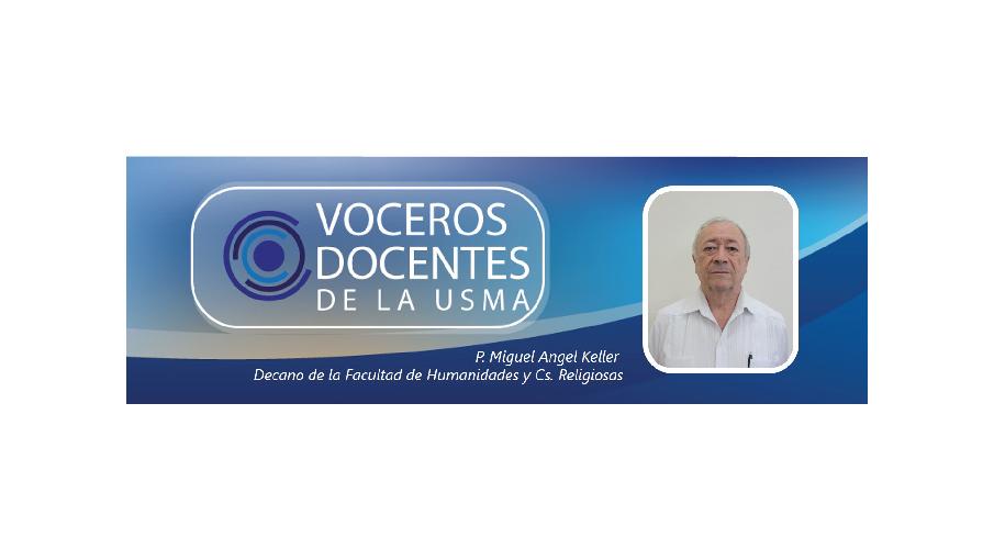 Vocero Docente de la USMA: Padre Miguel Angel Keller, Especialización en teología y ética