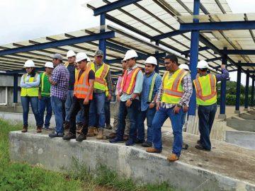Estudiantes realizaron gira a planta de tratamiento de aguas residuales